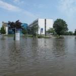 Hochwasser in Sachsen-Anhalt - Fraunhofer IFF in Magdeburg