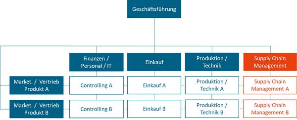 Abbildung: SCM in der Matrixorganisation (Beispiel)