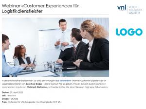 Webinar Customer Experience für Logistikdienstleister VNL Schweiz und LOGO consult