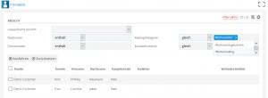 LOGO Kontaktliste mit Filtern Mailingkategorie und Kontaktfunktion
