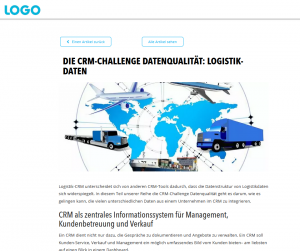 LOGO Blogbeitrag die CRM Challenge Logistik-Daten