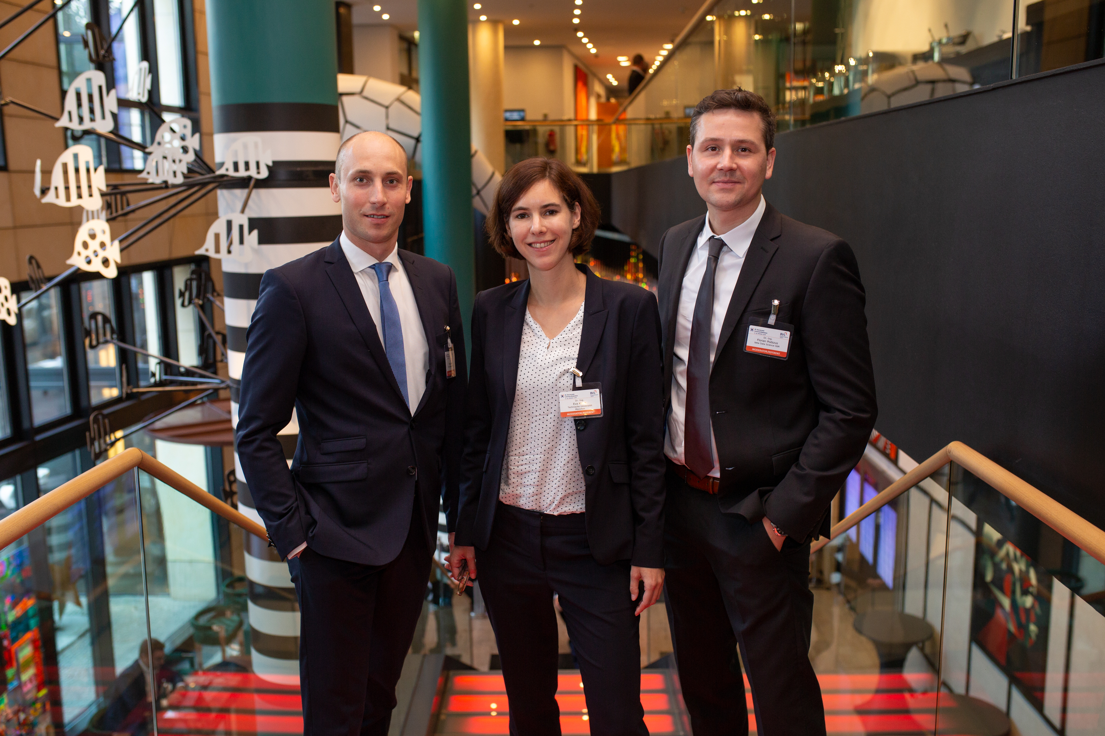 Dr.-Ing. Eva Klenk came out on top in the final round of the Science Award for SCM, ahead of her colleagues Dr. Falco Jaekel (left) and Dr.-Ing. Florian Podszus.