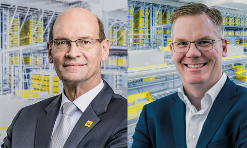 Harrie Swinkels, CEO (l.) und Michael Mohr, Exec. VP Sales (r.) von SSI Schäfer